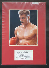 Dolph Lungren Genuine Hand Signed Autograph mounted with 10x8 Photograph COA