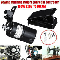 220V 100W 7000RPM Universal Home Sewing Machine Motor Foot Pedal Control