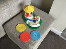 Vintage Fisher Price Change-a-Tune Record Player Carousel Little People Rare 81