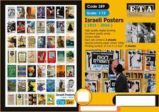 ETA Diorama 1/72 Modern Israeli Posters 1921 - 2016 (2 sheets)