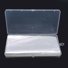 100pcs Transparent Clear Plastic Banknote Sleeves Money Protector With Box S