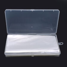 100pcs clear plastic cover sleeve banknote stamp gifts safety protector DB