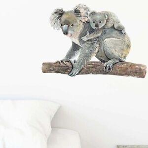 Cute Koala Bear Wall Stickers For Bedroom Living Room Home Mural Vinyl Decals