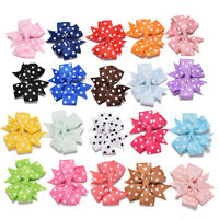 20x Bow Duckbill Clips Dot Bow Knot Girl Hair Band for Kids Hair Accessories SEA