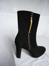 BNWOB NEW BLACK SUEDE HEEL UGG BOOTS TAG BAG & RECEIPT SIZE 4.5 BUT FIT UK 3.5