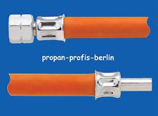 """40 cm Propangasschlauch ÜM 1/4"""" links x  Stutzen 8 mm - Gasschlauch 400 mm/0,4 m"""