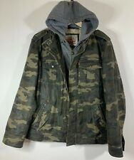 Levi's Sherpa Lined Military Field Jacket With Zip In Hoodie Liner L