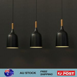 3X Wood Pendant Light Nordic Ceiling Lights Bar Lamp Kitchen Pendant Lighting