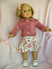 Doll clothes /HANDMADE/CUTE Skirt/Sweater Set/ Fits American Girl Dolls