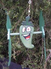 Pepper Green Mini Whirligigs Whirligig Windmill Yard Art Hand from wood