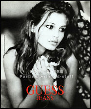 GUESS JEANS__BRIDGET HALL__Original 1994 Print AD / promo__Paul Marciano__kitten