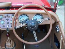 LEATHER STEERING WHEEL COVER GLOVE TRIUMPH TR2 TR3 TR4 TR5 TR6 TR7 GT6 SPITFIRE