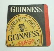 MALAYSIA Beer Mat Coaster GUINNESS STOUT Label Foreign Extra Black Collect 1988