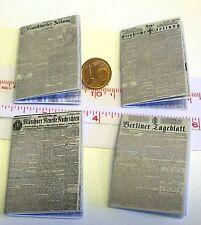2009# Diverse Zeitungen ca. 1900 mit Innendruck- Puppenhaus Puppenstube - M1zu12