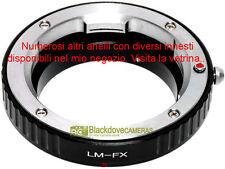 Anello adattatore per montare ottiche Leica M su corpi Fuji X-Pro 1. Adapter