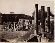 ITALIE Naples Pozzuoli Pouzzoles Temple de Sérapis Photo Sommer Vintage ca 1875