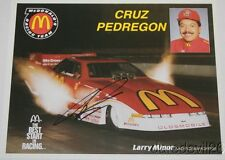 1994 Cruz Pedregon signed McDonald's Oldsmobile Cutlass Funny Car NHRA postcard