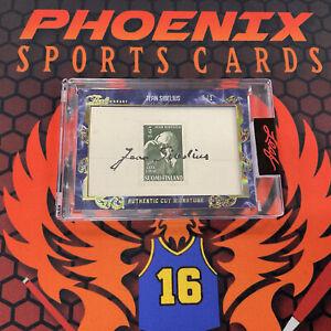 JEAN SIBELIUS Cut Signature Auto 1/1 2020-21 Leaf Pearl Hockey Autograph PHX