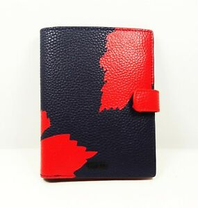 TUMI Graphic Congo Print Pebble Leather Snap Passport Case