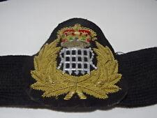 More details for vintage obsolete hm customs & excise cap badge on band