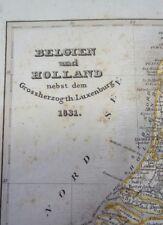 Alt-, Hand- u. Grenzkol. Stahlstichkarte von Belgien, Holland und Luxemburg 1831