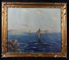 Vincent AMBROSINI (1905-1982) Voilier marine bateau navigation orientalisme mer