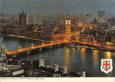 B97220 the houses of parliament and river thames by night london uk