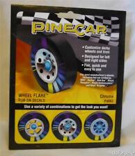 PineCar Wheel Flare Rub-On Decals Chrome P4063 for Pinewood Derby Cars