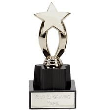Silver Finished MicroStar Sports Award Trophy FREE ENGRAVING