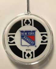 New York Rangers Chip Christmas Tree Hanging Ornament NHL Hockey Poker Black