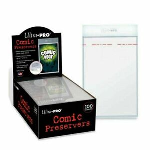 20 x Ultra PRO Comic Book Preserver Resealable Current Size 7 x 10 Bag + Backing