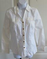 Womans Van Heusen White Button Down 100% Cotton Long Sleeve Shirt XS