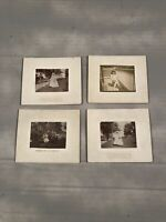 Vintage Cabinet Photographs Lot Of 4