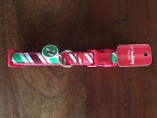 NWT Top Paw Dog Collar MEDIUM Christmas Pet Holiday  Stripe PetSmart