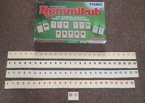 Tomy Rummikub Original Individual Number Tiles With Logo Spares Sets Of Two