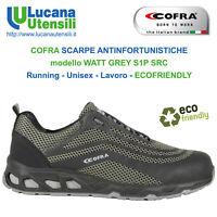 COFRA SCARPA ANTINFORTUNISTICA mod WATT GREY S1P SRC Unisex Lavoro Scarpe OFFERT