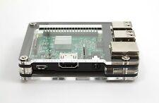 Zebra Slim Case (Black Ice) ~ for Raspberry Pi 3, Pi 2, Pi B+ from C4Labs