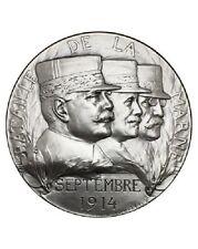 Medaille Bataille de la Marne Bronze argenté