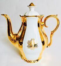 "Rare Antique Art Deco 1920s Czech ""Epiag"" 24ct Gold Plated & Handcrafted Teapot"