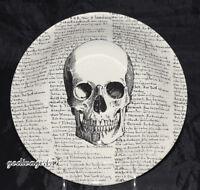 "Royal Stafford Victorian English * 9"" SERVING BOWL*  Skull & Script, Halloween"