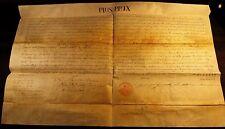 POPE PIUS IX BULLA Signed by Cardinal Spinola 1857 Papst Papal Pape Papa PIO