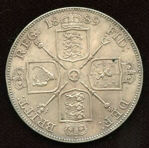 1889 AR Great Britain Double Florin Jubilee coinage. London mint