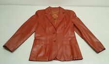 Vintage Montgomery Wards THE TANNERY Women's Leather Jacket Size 9 / 10 Brown