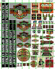 7002 DAVES DECAL HO 1:87 BIKER BAR BUILDING HOG HEAD SALOON AMERICAN MOTORCYCLES