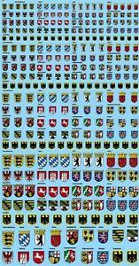Stemma Germania Paesi (190x100 MM) Circa 3-10 Altezza MM 1:18 Decalcomania