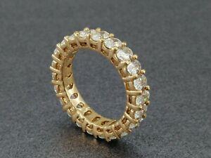 6.70 CTW Oval Cut Brilliant Moissanite Eternity Wedding Band Ring 14K Rose Gold