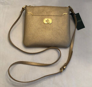 Ralph Lauren Acadia Crossbody Purse Gold Rush NWT  New with Tags