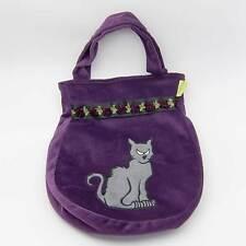 """Lovely Lea HEXEN-TASCHE """"Katze"""" Handtasche Halloween Kostüm violett NEU"""
