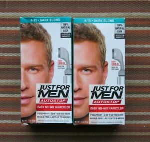 New Lot of 2 JUST FOR MEN AutoStop Haircolor, Dark Blond A-15