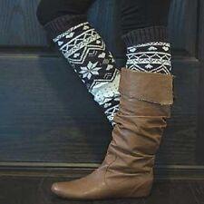 Knit Winter Leg Warmer Boot Accessorie-Grey